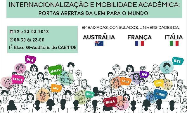 Ciclo de palestras trata da internacionalização e mobilidade acadêmica