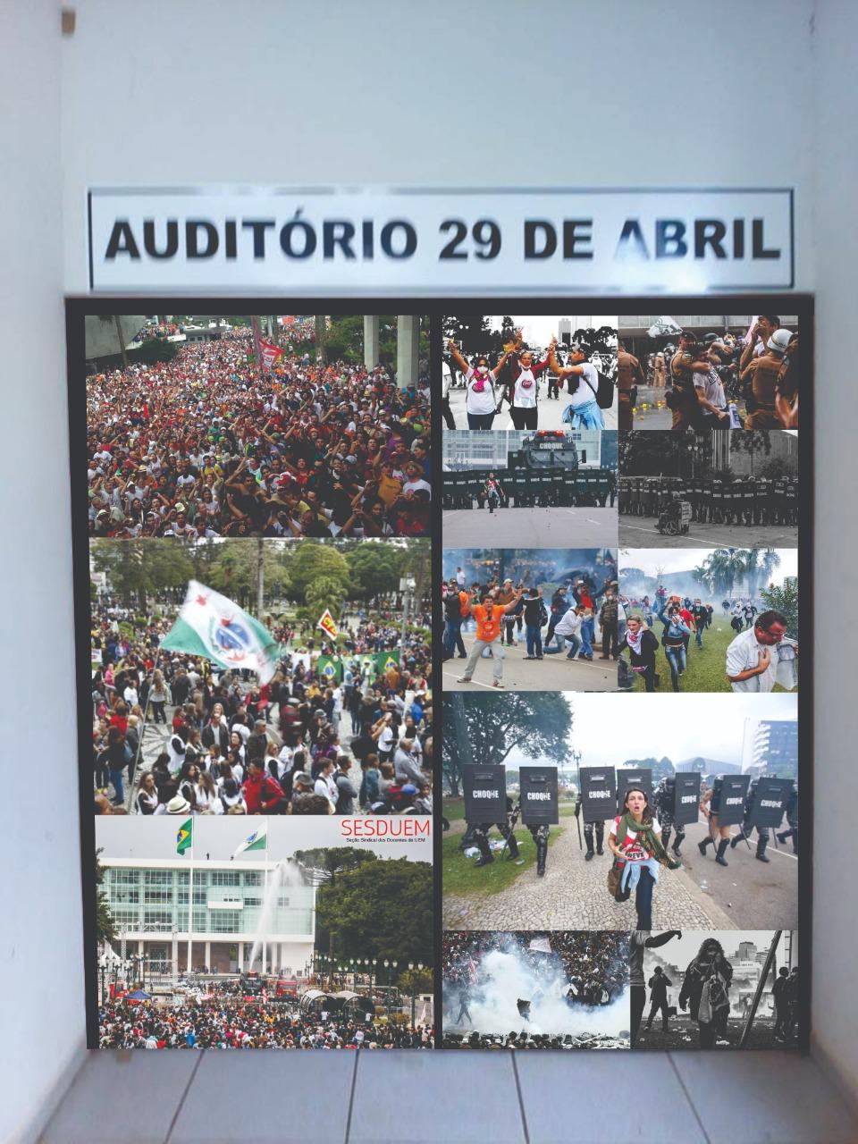 Auditório é nomeado para simbolizar a resistência contra o Massacre de 29 de abril
