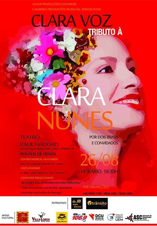 Dois Brasis fará um tributo à cantora Clara Nunes