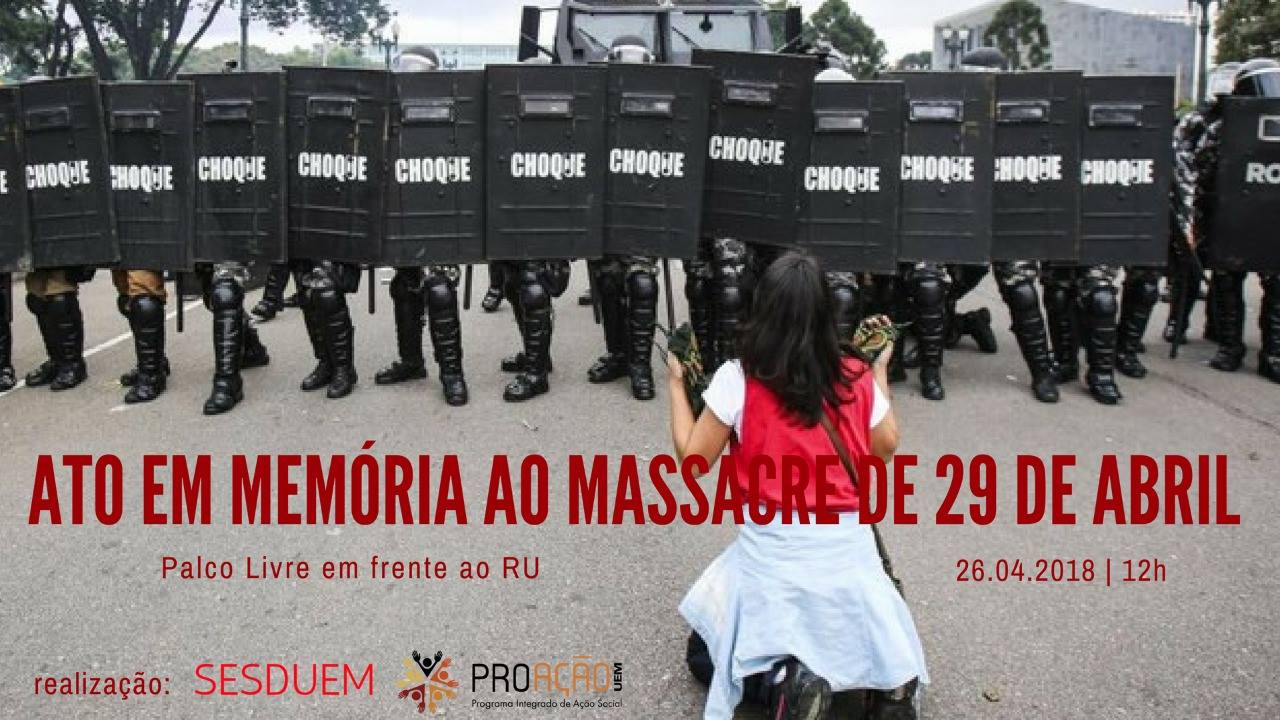"""Massacre do Centro Cívico"" será lembrado na Universidade"