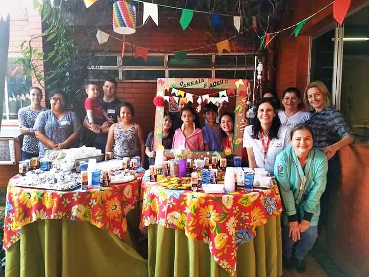 Voluntários organizam arraial para crianças do HUM