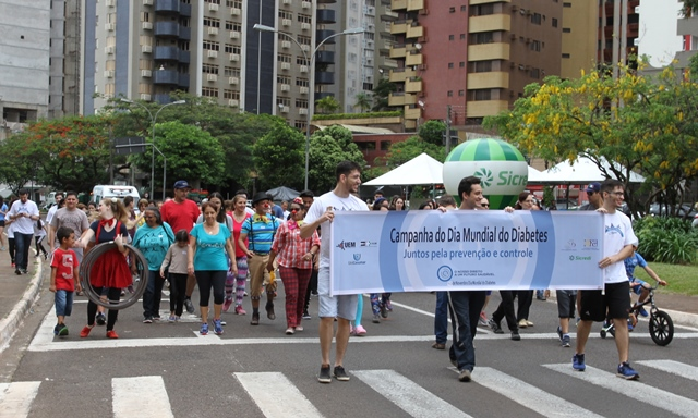 Caminhada e atividades de prevenção marcam o combate ao diabetes