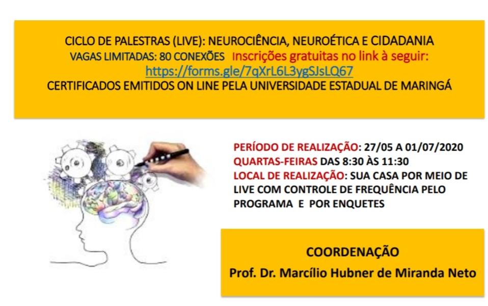 Ciclo de palestras discute assuntos ligados à neurociência, neuroética e cidadania