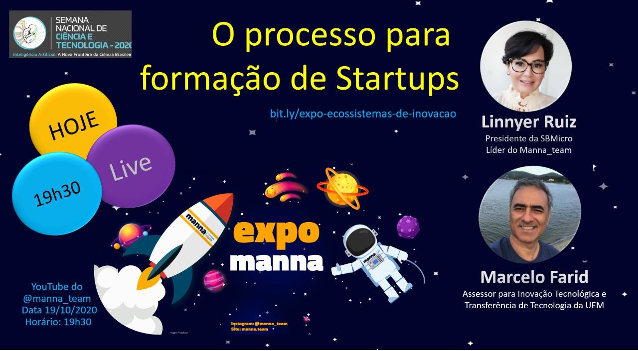 Semana de Ciência e Tecnologia tem live sobre startups, nesta segunda (19)