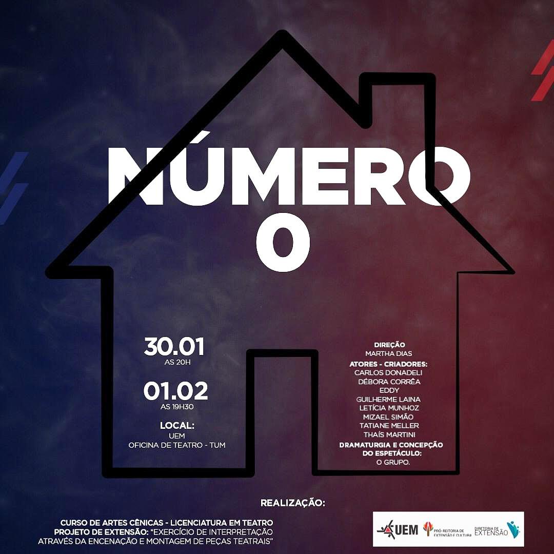 """Peça teatral """"Número 0"""" faz duas apresentações gratuitas"""