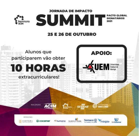 Universidade de Maringá participa da 3ª edição do Summit Pacto Global